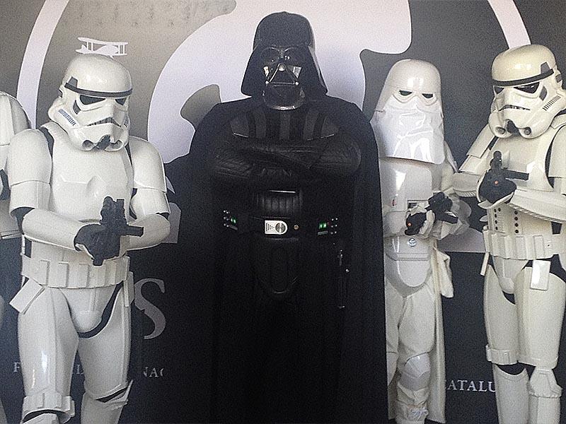 Darth Vader promocionando I am your father.